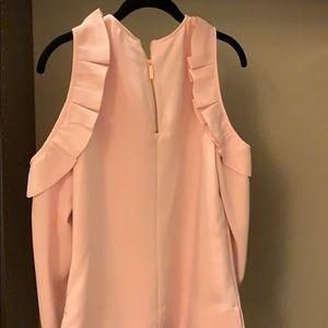 Ted Baker cold shoulder pink top